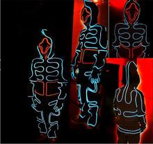 DIY costume LED Suits Luminous Costumes Illuminated Glowing Hooded Men EL Clothes Cold Strip Dance Fashion Talent Show LED Light