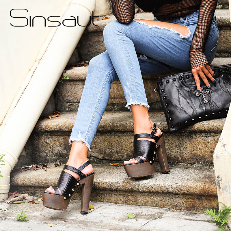 Sinsaut buty damskie damskie buty na lato wysokie obcasy buty na koturnie dla kobiet sandały na platformie pasek na kostkę wygodne sandały na koturnie w Wysokie obcasy od Buty na  Grupa 1