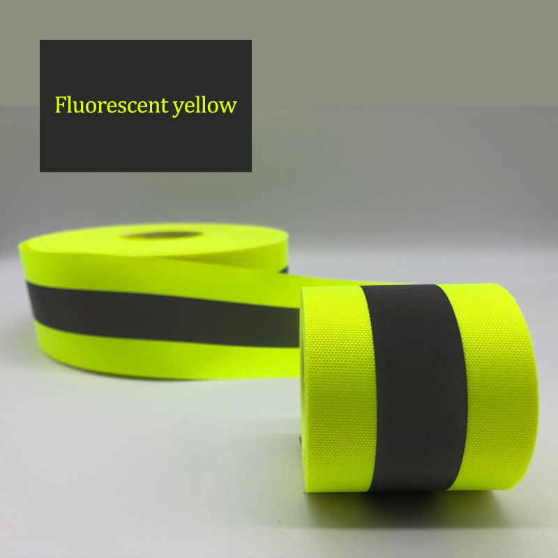 Fluorescent yellow Fluorescent orange Warning Tape for Safety Clothes sewing on in Warning Tape from Security Protection