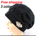 2016 Nuevos sombreros de invierno moda mujeres punto hat mujer para hacer punto de lana sombrero caliente 3 colores chapeau envío libre