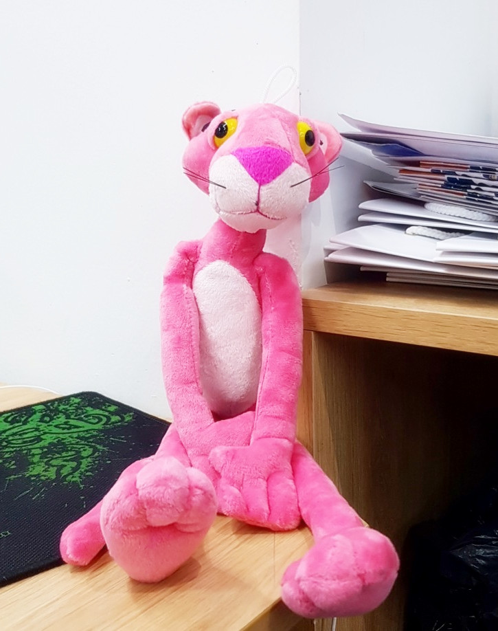 Hot Sale 40cm Lovely Pink Panther Stuffed Animals Plush Toys Cute Pink Panther Plush Toy