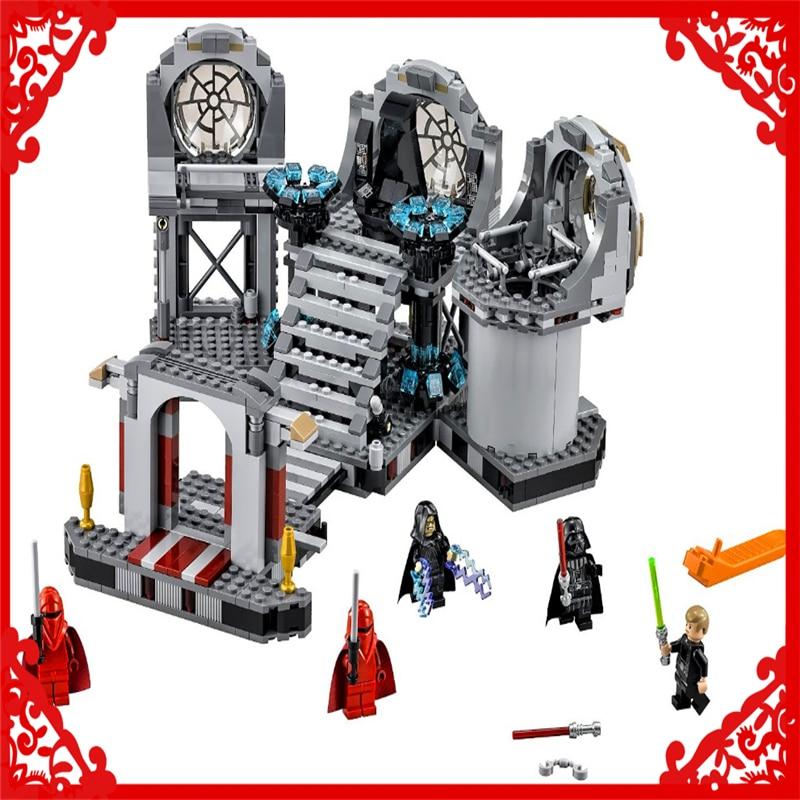BELA 10464 Star Wars Death Star Final Duel Building Block 723Pcs Educational  Toys For Children Compatible Legoe 10464 bela star wars death star final duel model building blocks classic enlighten figure toys for children compatible legoe