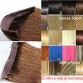 28 colores disponibles 80g Gruesa Cabeza Completa 1 unidades completas head set Flip remy pelo humano Brasileño extensiones de Cabello Humano extensión