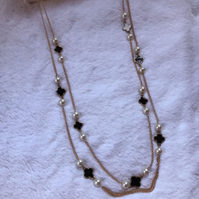 Wholesale handmade korean fashion sweater pearl long necklac