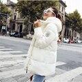 2016 Fashion Autumn Winter Jacket Women Long Cotton-Padded Hooded Jackets   D835