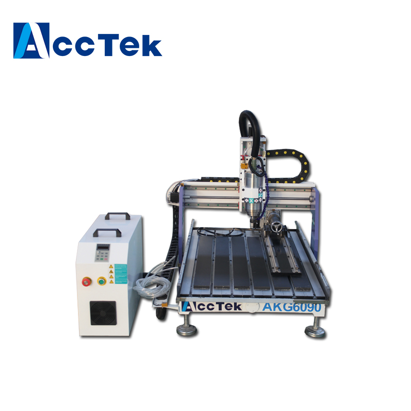 AccTek pas cher CNC routeur chine prix/mini CNC routeur machines avec axe rotatif/CNC bois routeur machine pour bois