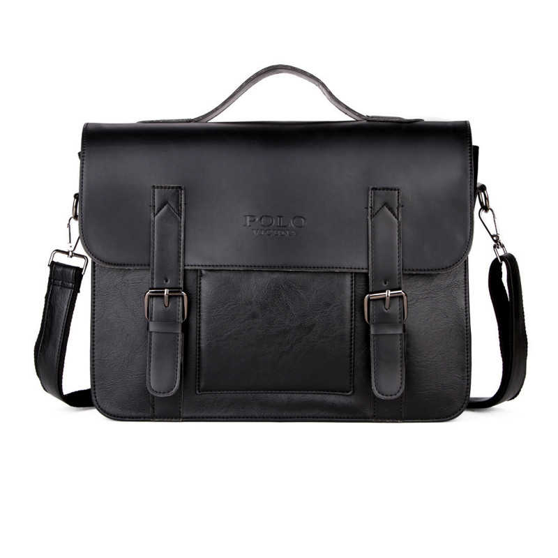 POLO Leather Men Business Shoulder Fashion Vintage Crossbody Bags Messenger Bag New Briefcase For Male Casual Handbags