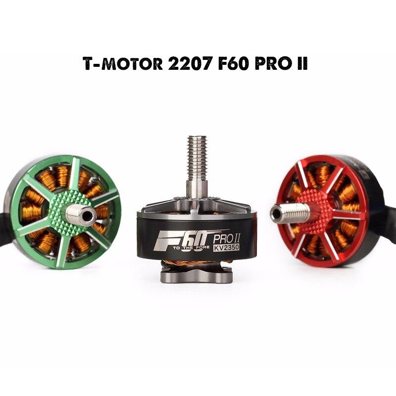 T-motor F60 PRO II 2207 1750KV/2350KV/2500KV/2700KV Brushless Electrical Motor For FPV Racing Drone FPV Freestyle Frame
