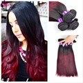 100 Перуанский Волосы Красный Реми Прямо Девы Волос Связки Ombre Мокрый и Волнистые Перуанский Волосы Расслоения На Продажу Rosa Продукты Волосы Утка