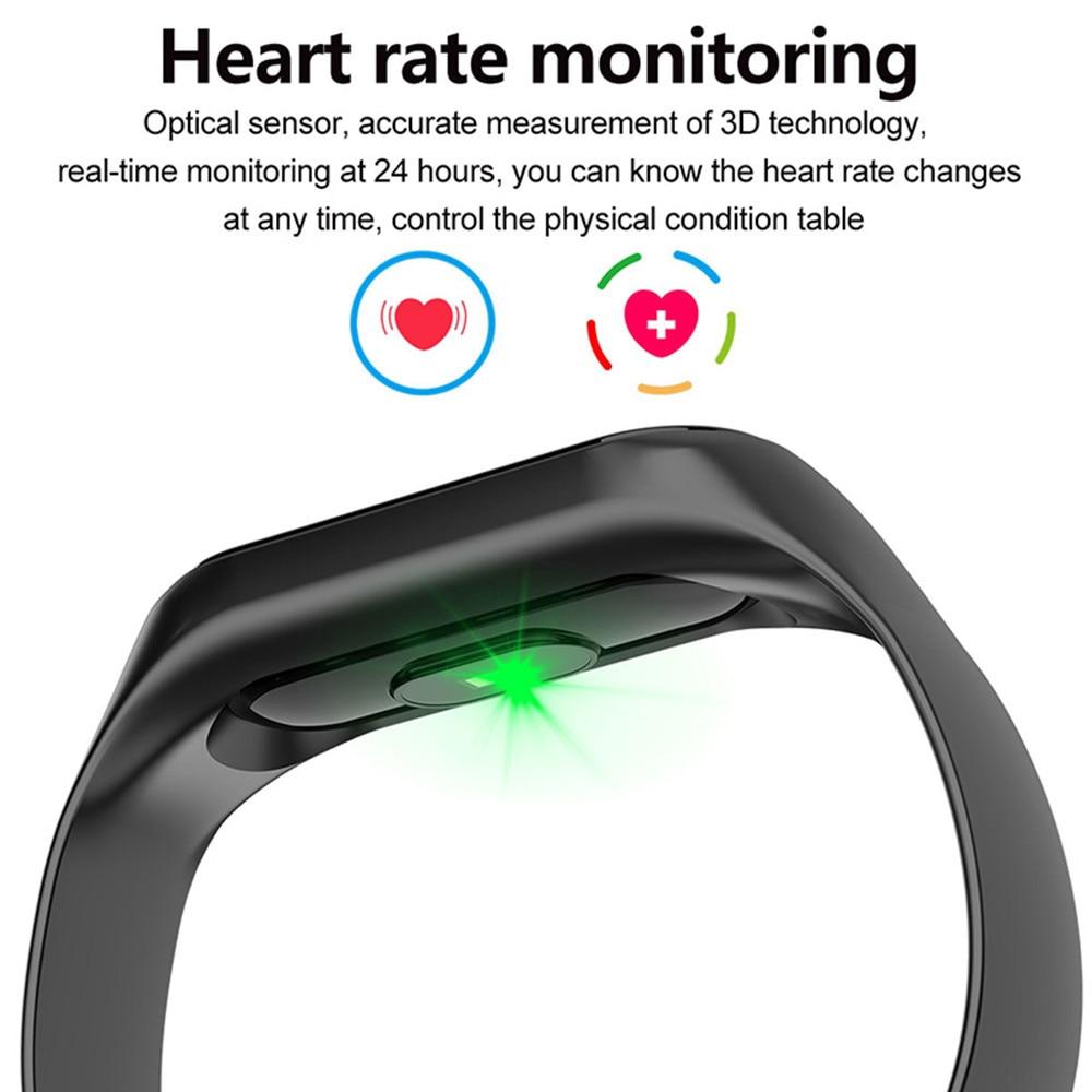 HTB1Sriqa8Gw3KVjSZFwq6zQ2FXac M3 Smart Watch Bracelet Band Fitness Tracker Messages Reminder Color Screen Waterproof Sport Wristband For men women