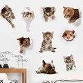 DOORSACCERY нетоксичный ПВХ 3D мультфильм кошка/наклейки на стену собаки домашний декор \