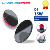 UMIDIGI Q1 15W Wireless Fastest Charger For iPhone X/XS Max XR 8 8 Plus Samsung S8 S9/S9+ Note 9 8 Phone Wireless Charging Pad