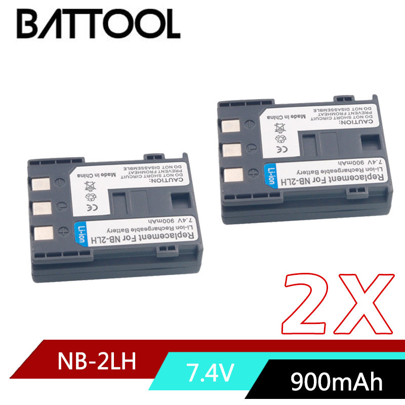 2X NB-2L NB 2L NB2L NB-2LH Li-ion Rechargeable Battery for CANON 350D 400D G7 G9 S30 S40 EOS PowerShot S70 Optura 400