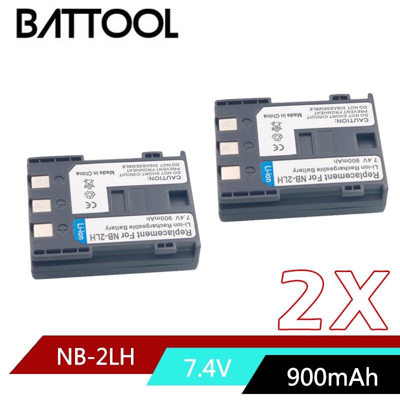 2X NB-2L NB 2L NB2L NB-2LH recargable de Li-Ion batería para CANON 350D 400D G7 G9 S30 S40 EOS PowerShot S70 Optura 400