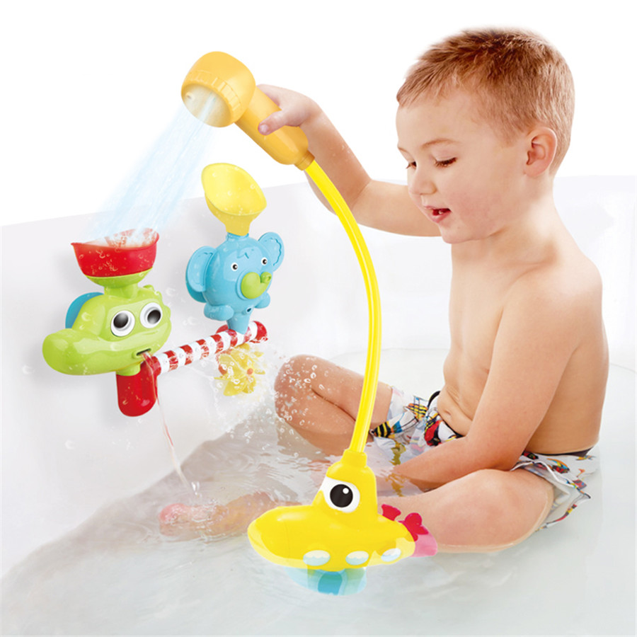 Children Toys For Bathroom Faucet Bath Toy Cognitive Floating Fishing Inflatable Pool Toys Educational For Girls Fun 80M023