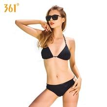 361 Triangle Sexy Bikini Set Black Women Swimsuit Push Up Swimsuit 2018 New Backless Sexy Micro Bikini Halter Swimsuit Bathing