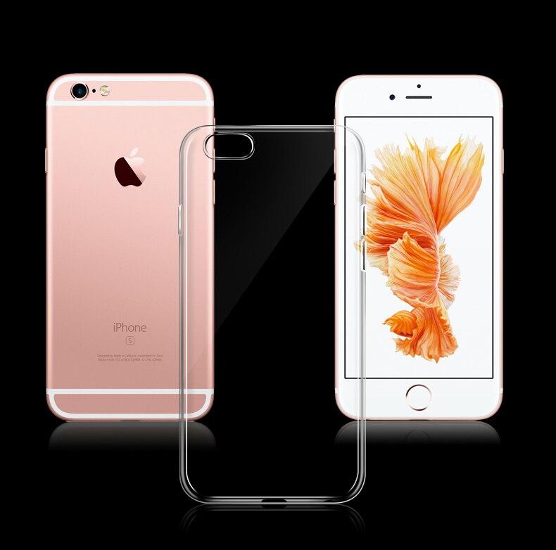 Esamday Ultra Thin Miękka TPU Gel Oryginalny Przezroczysty Case Dla iPhone 6 6 s 7 7 Plus 6 sPlus Crystal Clear Silicon Obejmują Przypadki Telefonów 5