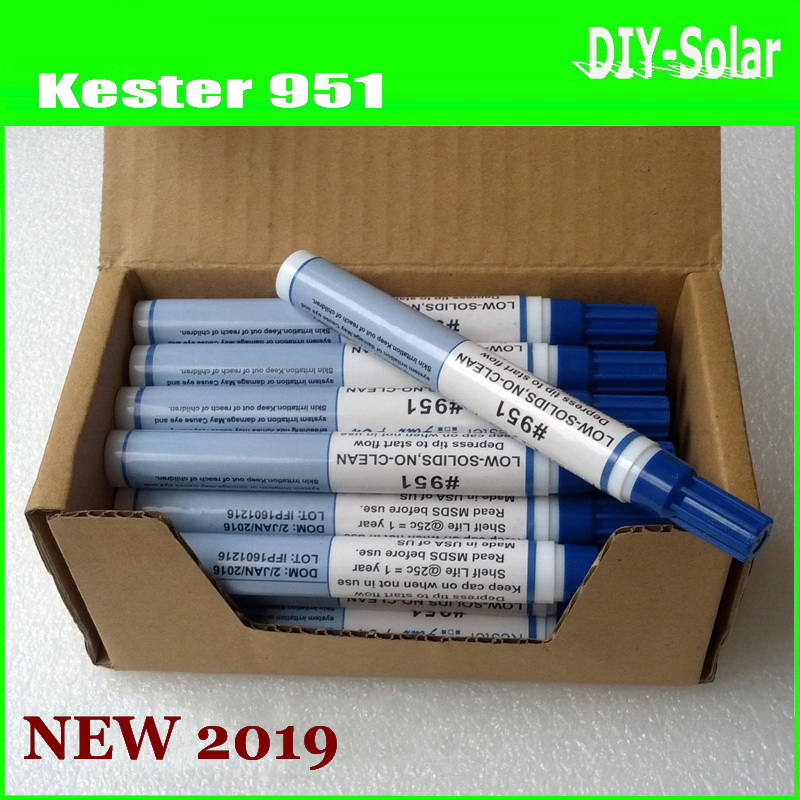 200ml Kester 951 Soldering Rosin Flux Pen Low-Solids Non-clean For solar  cell panel DIY Soldering / PCB Circuit Board Welding