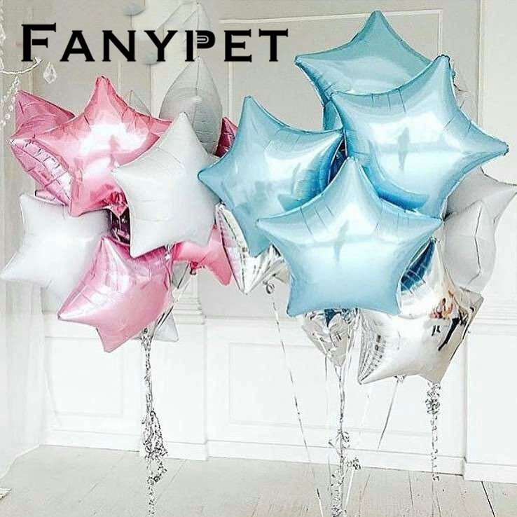 10pcs 18inch Star Balloons Birthday Wedding Party 1st baby shower Decoration inflatable helium kids Toy foil gift globos supplie