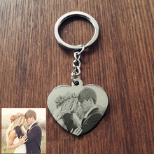 Buy dropship personalized gifts and get free shipping on custom engrave photo heart stainless steel lovers keychain negle Image collections