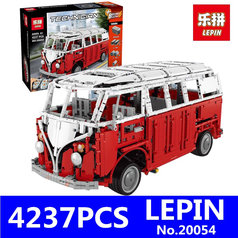 MOC Technic Series LEPIN 20054 4237Pcs The Remote Control T1 Classic Camper Set 10220 Building Blocks Bricks Educational Toy цена и фото