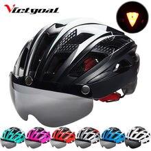 61425f9c8a VICTGOAL Mountain Road bicicleta casco MTB bicicleta casco para hombres  mujeres moldeado integralmente ciclismo a prueba