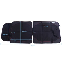 1 Pcs Black Car Seat Cover Protector Mat with Mesh Pocket Bag