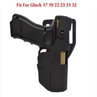 Étui tactique à chargement automatique Glock accessoires militaires étui à pistolet pour Glock 17 19 22 23 31 32 étui de ceinture de pistolet de chasse