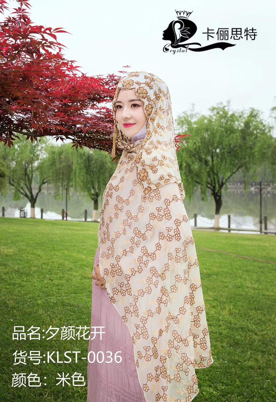 2019 Dubai design haute classique femmes musulmanes mode hijab en soie - 6
