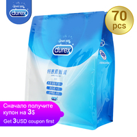 Durex Ultra Thin Condoms Jumbo Pack 70Pcs 3in 1 Intimate Goods Lubricant Kondom Safe Sex Toy Sex Products Rubber Penis for Adult