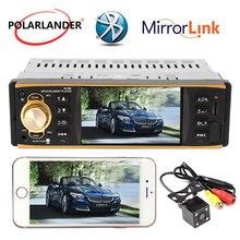 Автомобиль Радио Bluetooth аудио стерео USB AUX FM 1 Din дистанционного Управление рулевое колесо Управление многоязычный 2018 новые 4,1 дюймов автомагнитола  магнитола