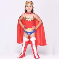 New Halloween Costume Party Cosplay Suit Gile Kids Toddler Clothing Superhero Capes Jumpsuits Dance Perform Dresses