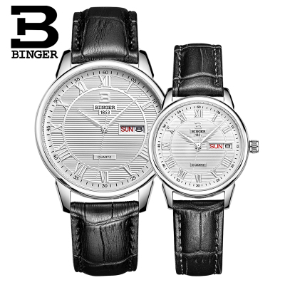 Brand Binger Men Watches Quartz Hour Date Clock Male Leather Sports Lover Watch Casual Military Wrist Watch Relogio Masculino binger nylon strap watch hot sale men watch unisex hour sports military quartz wristwatch de marca fashion female male relojes