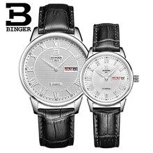 Marca Binger Hombres Relojes de Cuarzo Horas Fecha Reloj de Hombre Deportivo de Cuero Reloj Del Amante Reloj de Pulsera Relogio masculino Militar Ocasional