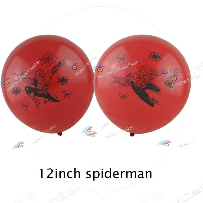 12 шт./лот Человек-паук латексные шары для День рождения украшения поставки дети игрушки Мстители Globos