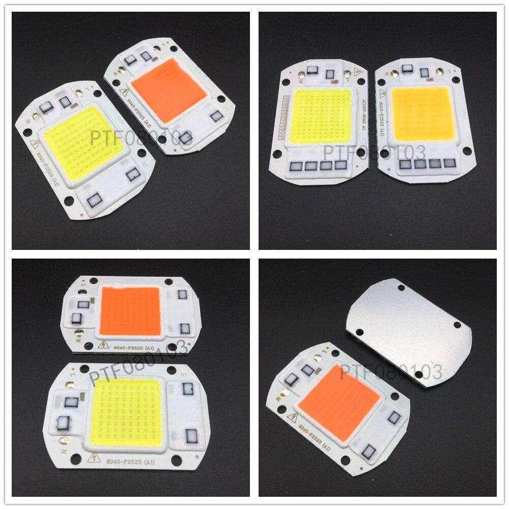 20W 30W 50W White Warm White 400-840NM LED Floodlight COB Chip 110V 220V Input Integrated Smart IC Driver