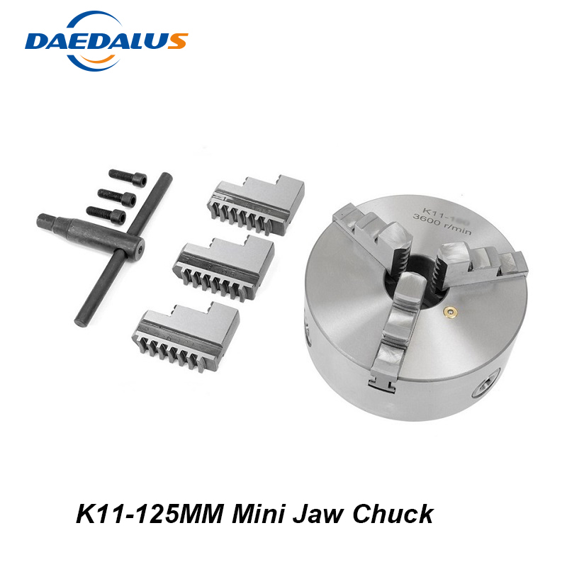 K11 125mm 3 jaw Chuck Self-Centering Manual Mini Drill Chuck Three Jaw For CNC Engraving Milling Machine Lathe Tool eu delivery 3 jaw manual chuck k11 80mm three jaw self centering chuck 3 jaw chuck machine tool lathe chuck