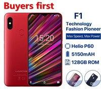 2019 new Global Version UMIDIGI F1 Android 9.0 mobile phone 6.3FHD 128GB+4GB 5150mAh Helio P60 Octa Core NFC 16MP Smartphone