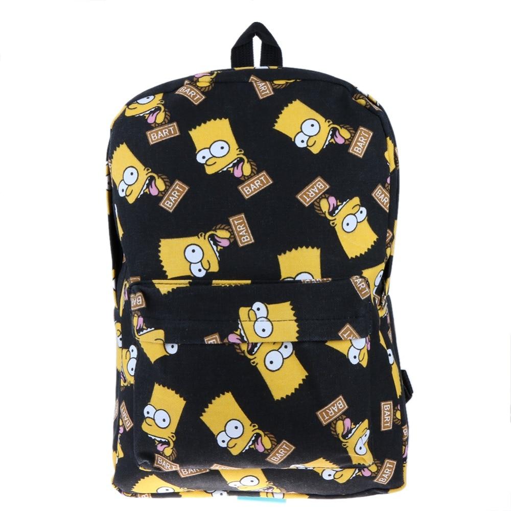 Pretty Canvas Backpack Cartoon Printing School Bags For Teenager Girls Shoulder Bag Mochila Feminina Sac Bags For Women 2018