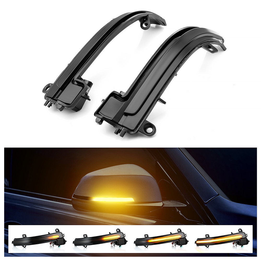 Dynamic Blinker car mirror LED Turn Signal For BMW F20 F31 F36 F22 Smoked Side Mirror Sequential Blink For BMW 1 2 3 4 Series X1-in Mirror & Covers from Automobiles & Motorcycles