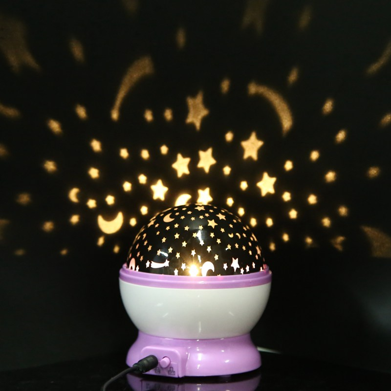 Kids Moon Starry Sky Night Lamp Toys Rotation Stars Luminous Night Light Lamp Children Glow In The Dark Romantic Toy Baby Gifts