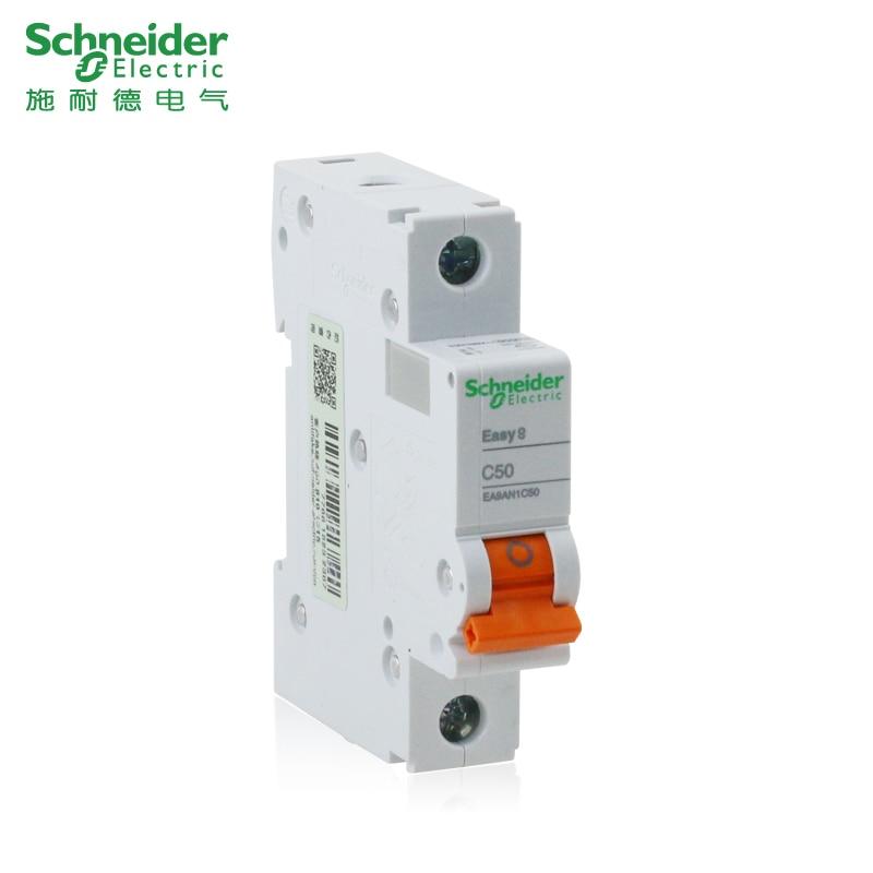 Schneider Air Switch Circuit Breaker E9 Series 1P10A/20A Vacuum Single Pole 1P10A ~ 63A Home Air Open Switch