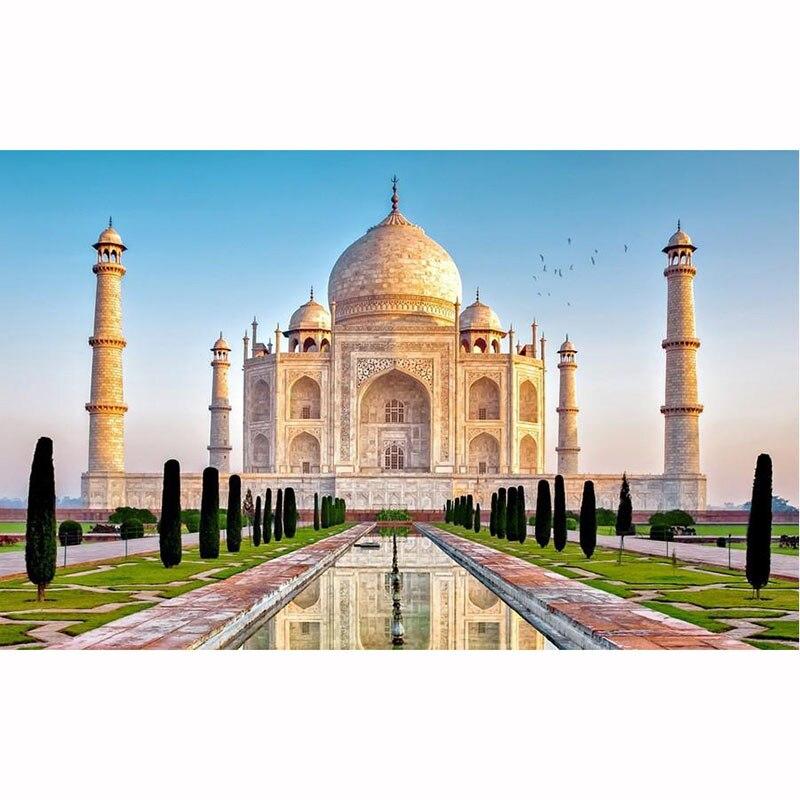 Diy Handmade Diamond Painting Taj Mahal/Building Scenery Picture 5D Full Diamond Mosaic Embroidery Painitng Cross Stitch Craft