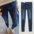Бесплатная доставка 2016 новые женщины полная длина большой размер тощие высокая талия винтаж карандаш джинсы