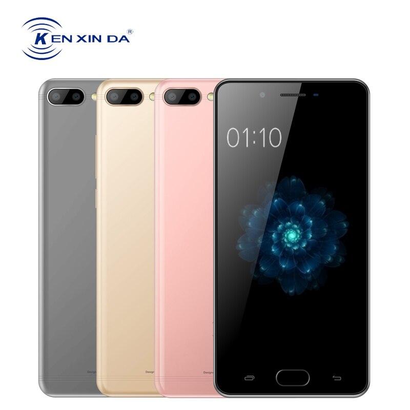 KENXINDA X6 5 pouces téléphone portable Android 7.0 celulaire Quad Core 3G + 32G 13MP double caméra arrière empreinte digitale 4G LTE Smartphone 3500 mAh