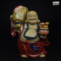 Shiwan Doll Master Buddha Maitreya Ceramic Arts And Crafts Boutique Carry Fu Feng Shui Lucky People