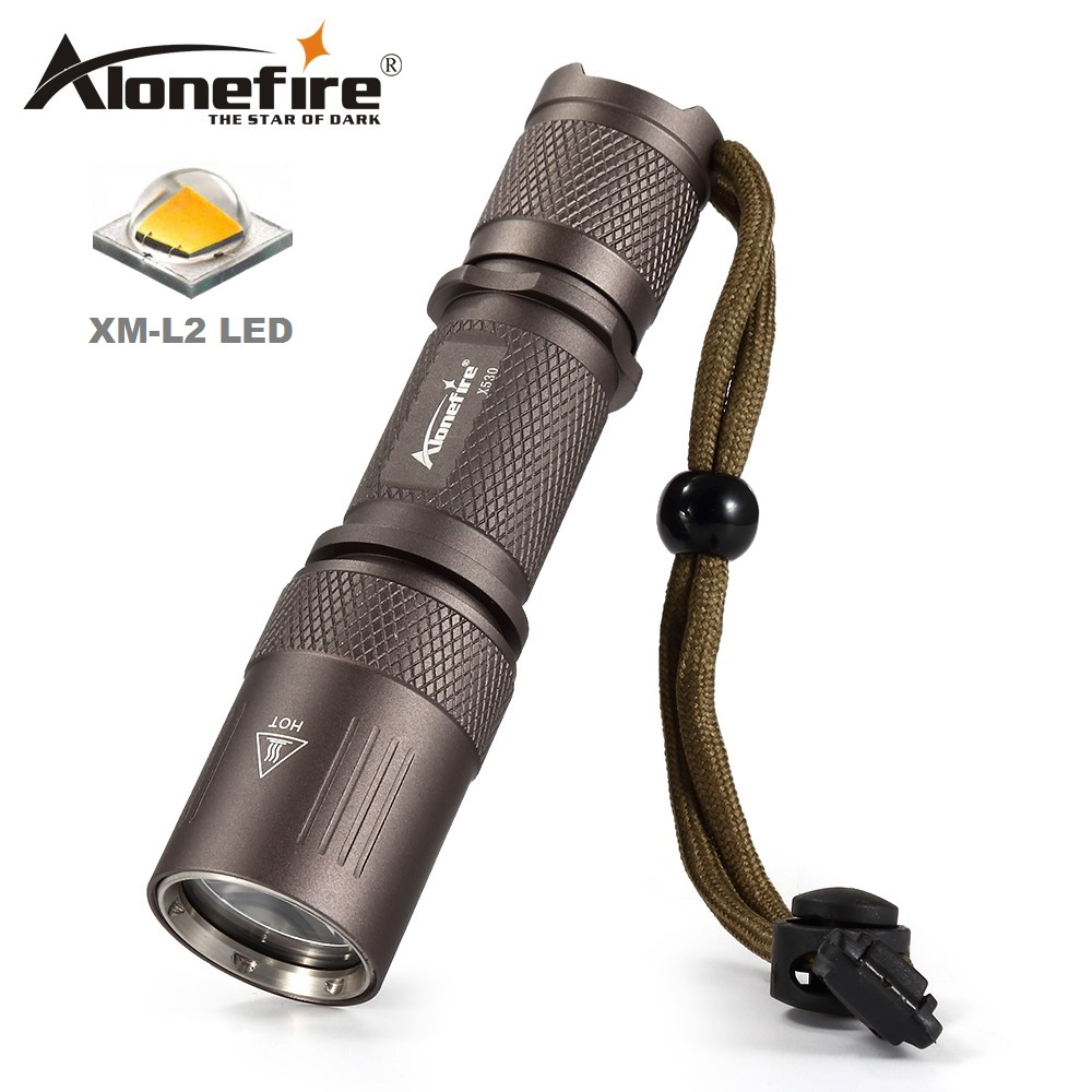AloneFire X530 High quality Tactical flashlight cree XM-L L2 Flashlight Led Torch 5 mode waterproof 18650 Rechargeable battery