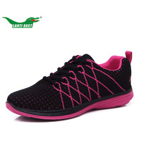 LANTI KAST New Arrivel Flywire Breathable Shoes Women Running Shoes High Tech Sole Walking Shoes Flats