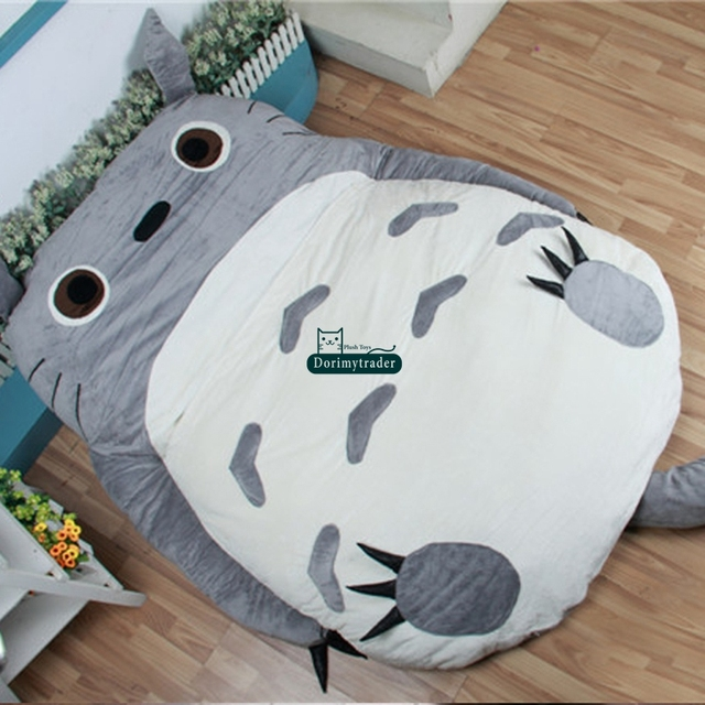 Dorimytrader 200cm X 160cm Huge Soft Plush Cartoon Anime Beanbag Totoro Sleeping Bag Bed Tatami Mattess