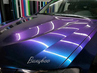 1.52 x 18M Glossy Chameleon Purple to Blue Glitter Vehicle Auto Full Body Car Sticker Wraps Vinyl